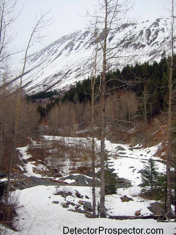 Area #1 at Crow Creek Mine, early spring