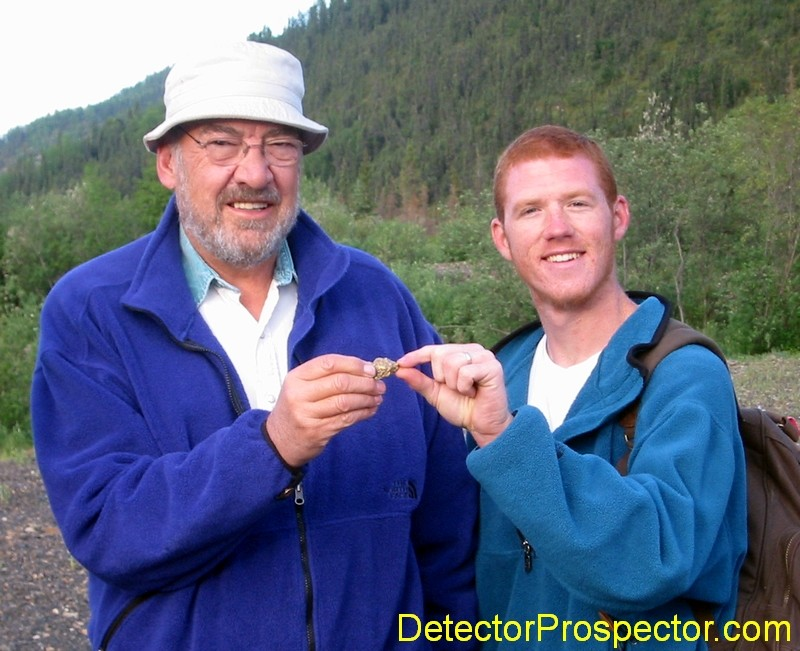 Fred Brust and Brian with 1.48 ounce nugget found with Fisher Gold Strike detector