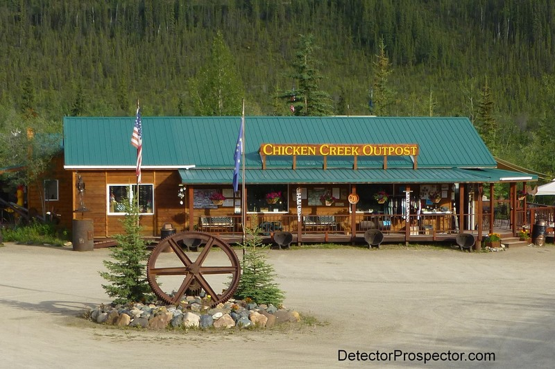 Main building at Chicken Creek Gold Camp