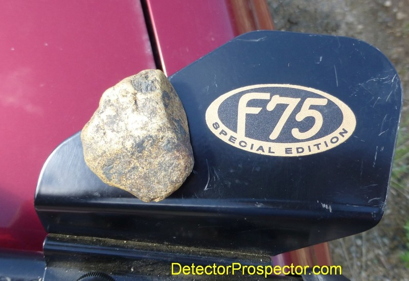 2.37 ounce gold specimen from jack Wade Creek, Alaska found by Steve with Fisher F75