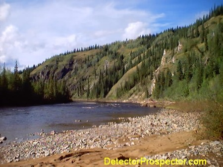 Fortymile River near mouth of Napoleon Creek
