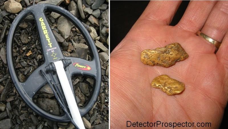 Gold nuggets found with Garrett Infinium at Ganes Creek