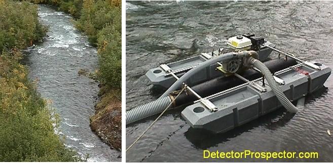 "Steve's dredge site and 5"" subsurface dredge"