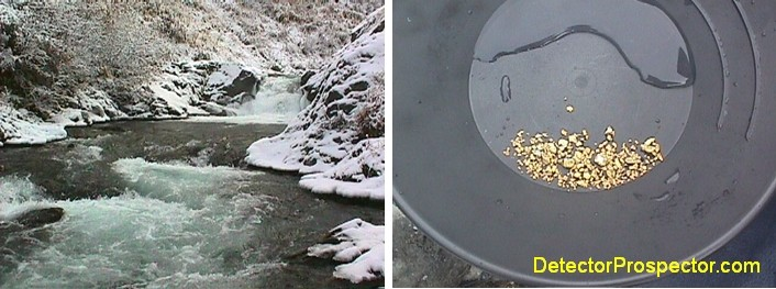 Mills Creek freezing up, and Jeff's gold