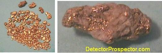 Mills Creek gold and close-up of quartzy nugget