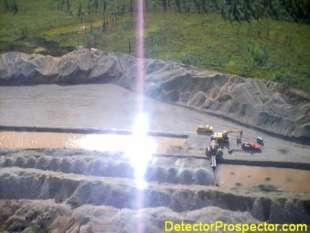 Commercial gold mining on Chicken Creek, Alaska