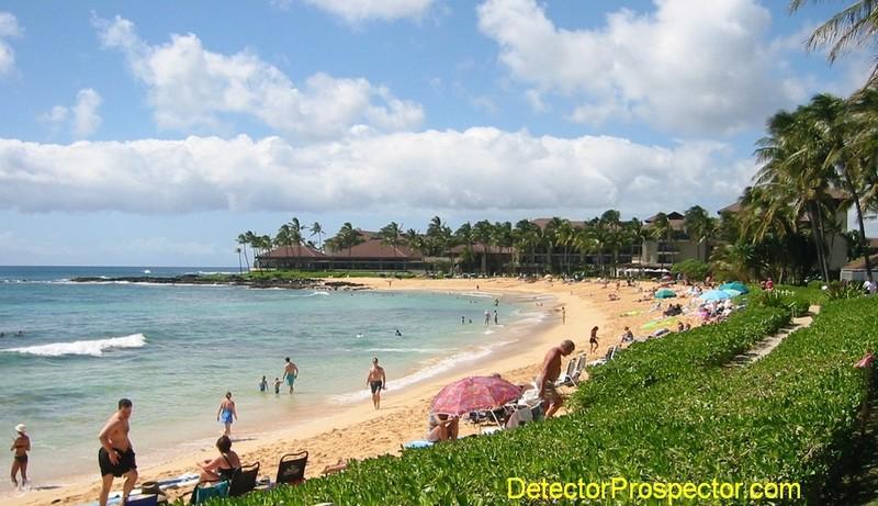Detecting heaven - Poipu Beach, Kauai, Hawaii