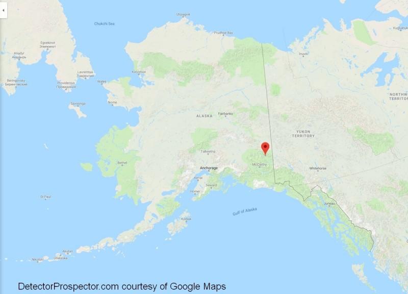 Chisana, Alaska location map
