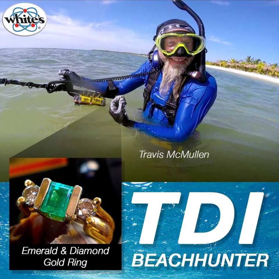 Beachhunters Password tdi beach hunter deep big bling ring - white's metal