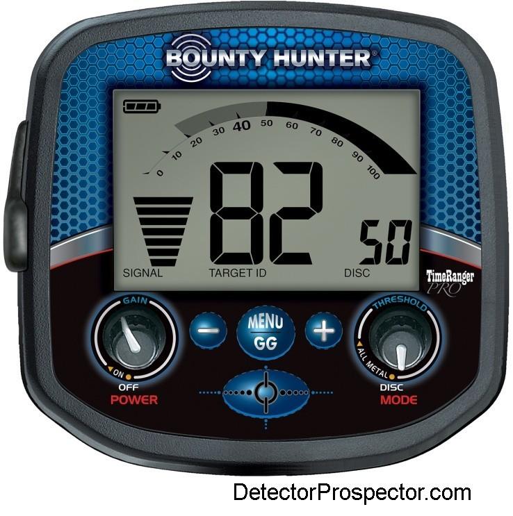 Bounty Hunter Time Ranger Pro Metal Detector Controls & Display