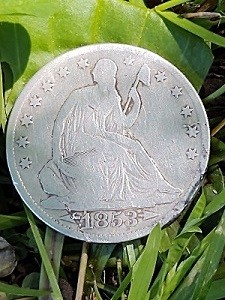 1853 Seated Liberty Half Dollar - First Silver found 02.jpg