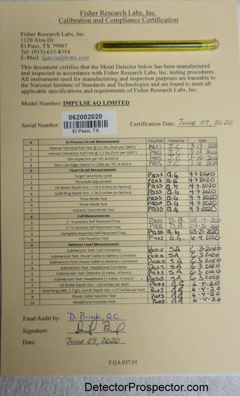 fisher-impulse-aq-ltd-calibration-checklist.png